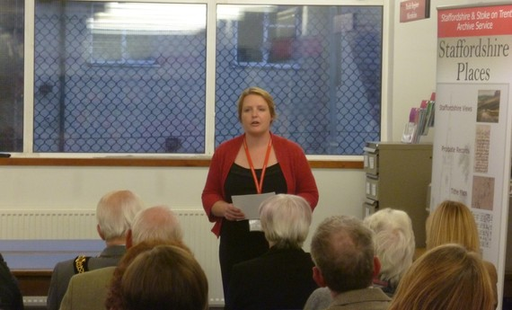Liz Street giving a talk at the Staffordshire Record Office
