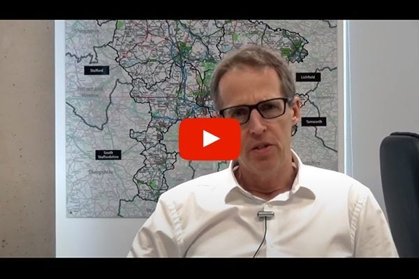 Dr Richard Harling explaining Staffordshire's Local Outbreak Control Plan