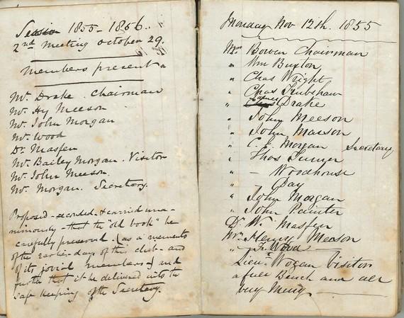 Handwritten document from Stafford Oyster Club