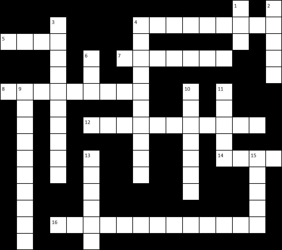 Garden Produce Crossword