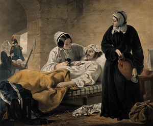 Image of nurses working during the Crimean War, courtesy of the Wellcome Trust