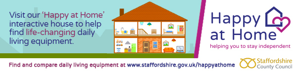 Happy At Home Daily living Equipment from Staffordshire County Council