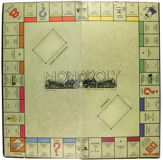 Monopoly Board Game from the collection, wartime edition 1940s