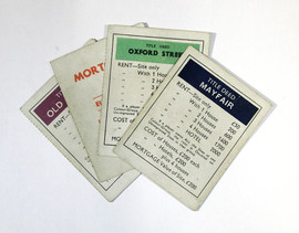 Monopoly game cards