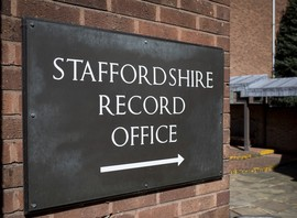 Staffordshire Record Office name plaque