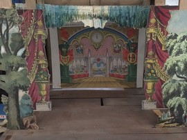Toy theatre made of paper and wood