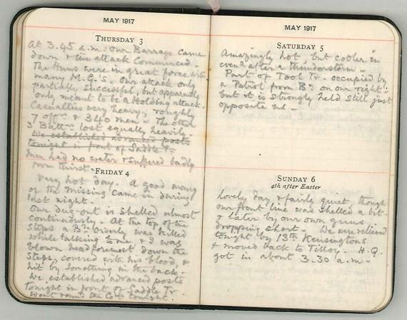Earl of Bradford's War Diary May 1917