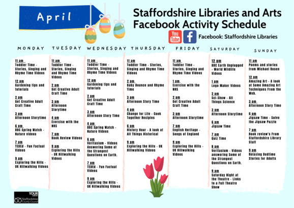 April Facebook Timetable