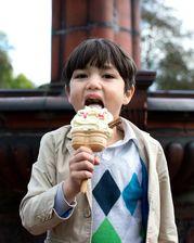 Eating an ice cream at Hanley Park