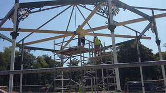 Constructing the bandstand