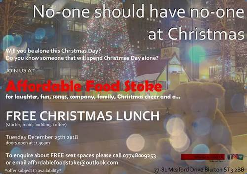 Affordable Food Stoke - Free Christmas Meal