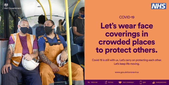 Face coverings crowded places