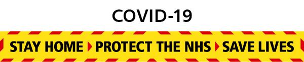 Covid white banner