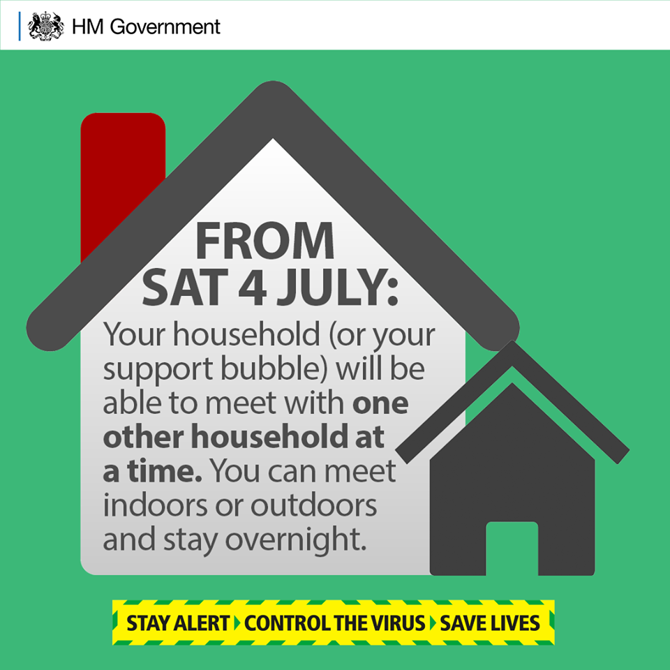 HM Government poster household bubble