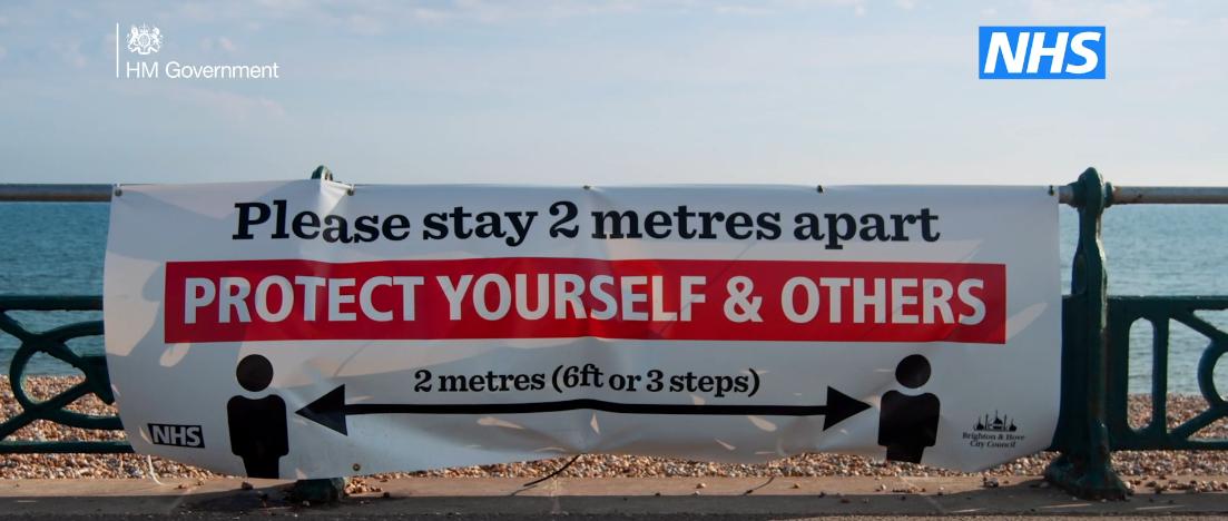 keep two metres apart