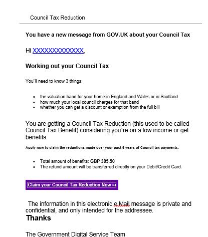 council tax scam