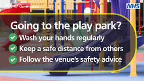 Play park NHS message
