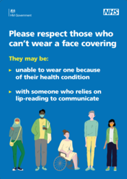 Respect those who can't wear face coverings