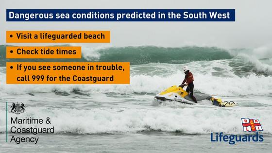 Lifeguard and coastguard warning of sea dangers