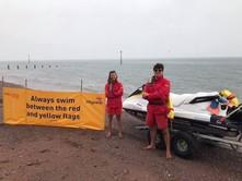 RNLI lifeguards on the beach