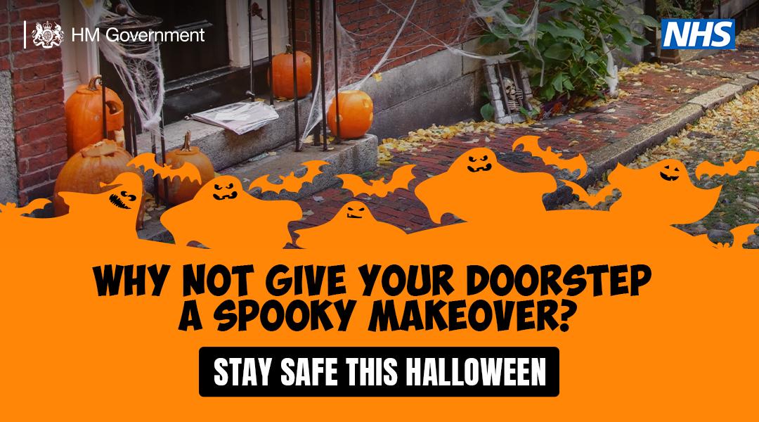 Spooky doorstep halloween celebration