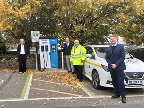 New carp ark electric charging points - Cllr Jackie Hook