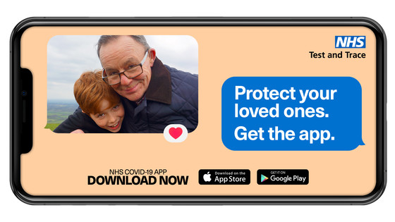 download the nhs test and trace app to protect your loved ones