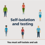 self isolate and test