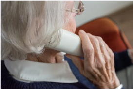 older person on phone - pixabay