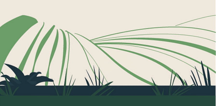 abstract farming graphic