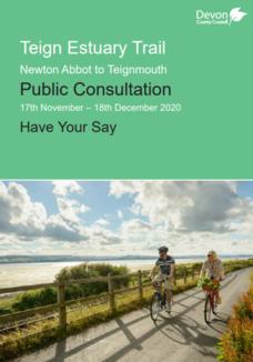 Teign estuary trail consultation leaflet cover