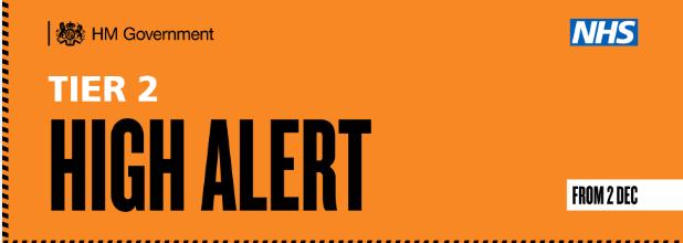 Tier 2 alert level banner