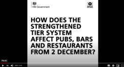 Post 2 December Tier 2 pubs and restaurants video