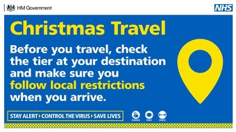 Christmas travel. Before your travel, check the tier at your destination and make sure you follow local restrictions when you arrive.