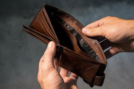 hands holding empty wallet