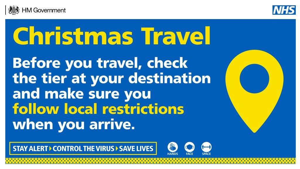 Christmas travel - before you travel check the tier at your destination and make sure you follow the local restrictions when you arrive.