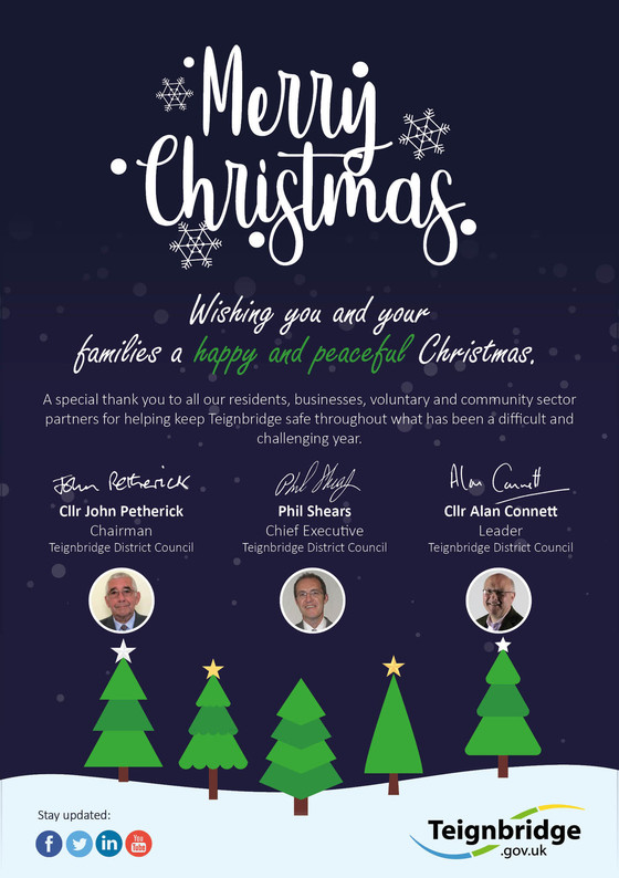 Christmas card from Chair, MD and leader
