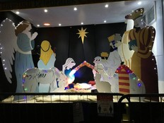 Dawlish nativity scene