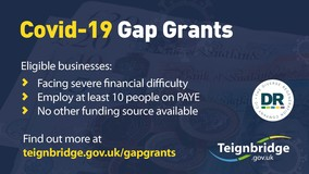 Covid-19 Gap Grants.  Business facing serieous financial difficulties, with at least 10 PAYE employees, no other funding sources available