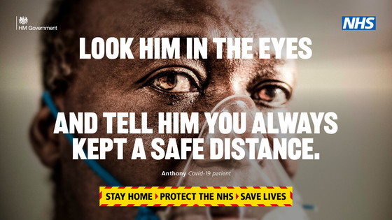 Look him in the eyes and tell him  you always kept a safe distance.  Stay Home. Protect the NHS Save Lives