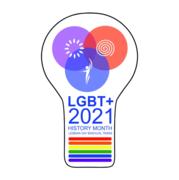 LGBT history month badge