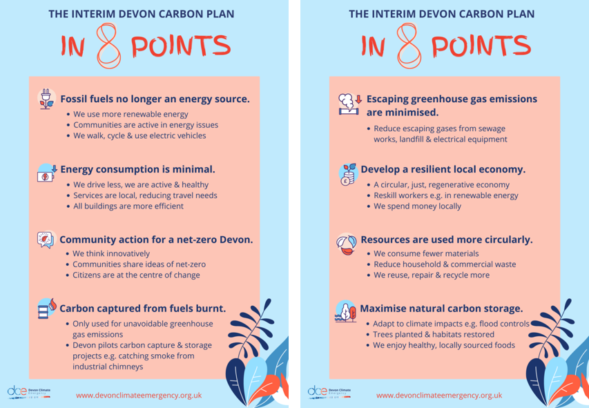 DCE interim carbon plan in 8 points