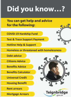 Fact sheet showing support different problems where help is available