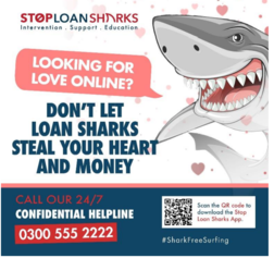 StopLoanSharks.  Looking for love on line? Don't let loan sharks steel your love and money.