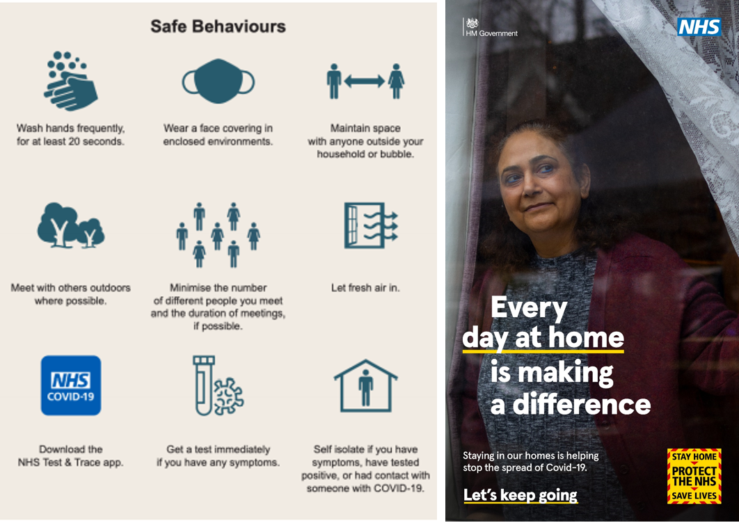 safe behaviours and every day at home is making a difference