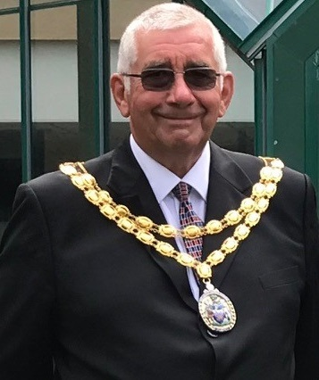 Chair of Council, Cllr John Petherick with chain of office