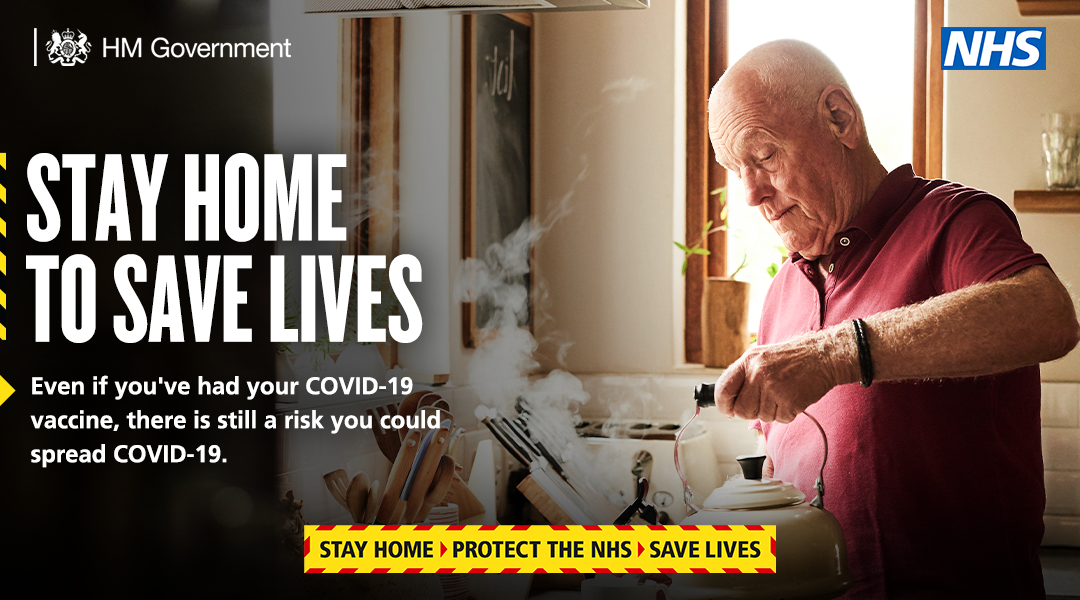 Stay home to save lives