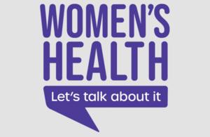 Women's health - let's talk about it logo
