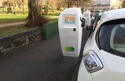 car electric roadside charging point