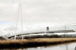 Teign estuary trail over a bridge